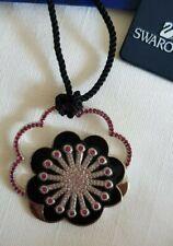 "GENUINE SIGNED "" SWAROVSKI "" NECKLACE  Flower PENDANT Pink Clear Crystal's"