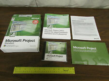 Microsoft 2002 Office Project Standard Version  Box Disks Designed for XP