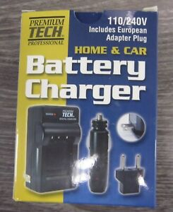 Premium Tech Professional PT-75 Home Car Battery Charger fit NB-11L Canon Camera