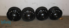 4x Stahlfelgen schwarz - Lochkreis 5x110 ET45 - Nabe 65,1 - Opel Jeep Pontiac
