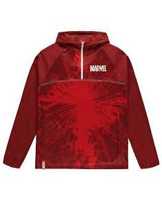 Marvel Hoodie For Victory track Logo new Official Mens Red