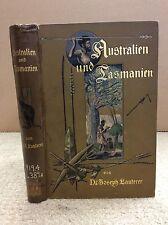AUSTRALIEN UND TASMANIEN By Dr. Joseph Lauterer - 1900, Australia, Tasmania