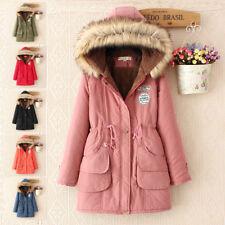 UK SELLER Hot-Ladies Womens Jacket Hooded Winter Top Parker Parka Long Coat
