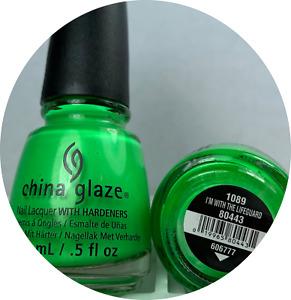 China Glaze Nail Polish * I'm with The Lifeguard 1089 Lime Green Lacquer
