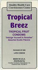 vtg condom machine decal sticker vending NOS Tropical Breez fruit flavored