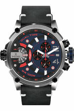 Timecode TC-1002-08-IT - Men's wrist watch RED BLUE BLACK   GENUINE LEATHER
