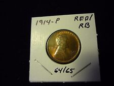 1914 P Lincoln Cent Penny  UNC   RED to RED BROWN   NICE STRIKE