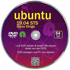 ubuntu 19.04 STS, Betriebssystem 64 bit  ✔Live DVD  ✔Version Juli 2019