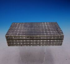 Italian .800 Silver Cigarette Box with Wood Lining Mid-Century Modern (#3826)