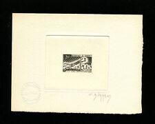 Dahomey 1963 Soccer/Football  Scott 177 Signed Sunken Die Artist Proof BLACK