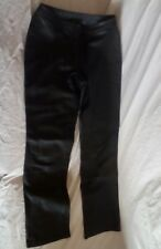 Willi Smith Black Lambskin Leather Pants Size 8