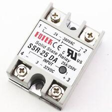 1Pcs Solid State Relay Module 3-32V DC Input 24-380VAC SSR-25DA 25A