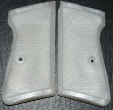 Manurhin Walther PP PPK pistol grips pearl white plastic with screw
