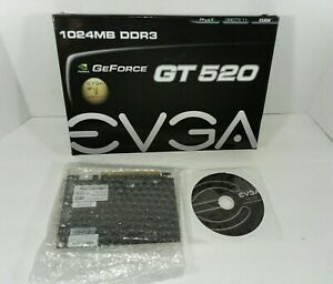 EVGA GeForce GT520 1024MB DDR3 PCIe  2DVI/Mini-HDMI Graphics Card 01G-P3-1526-KR