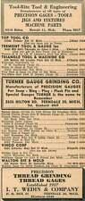 1946 It Wedin & Co Ferndale Mich Turner Gauge Grinding Ad