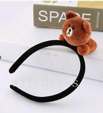 Women Kids Japan Line App Brown Bear Cony Sally Doll Hair Band 3D Headband Gifts