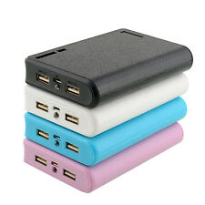 New Rechargeable USB LED Power Bank Charger 4pcs 18650 Li-ion Battery Box Case
