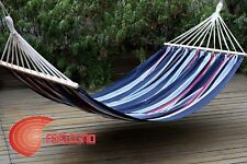 HAMMOCK DOUBLE COTTON WITH SHAFT IN WOOD 150X200CM GARDEN FURNITURE ART.14343