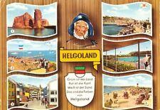 AK, Helgoland, 6 Abb. gestaltet, mit Spruch, 1967