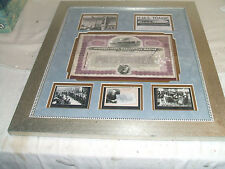 "Stock Titanic Common Capital 80 Shares # 019177 Framed Matted 24"" L 21.5 W"