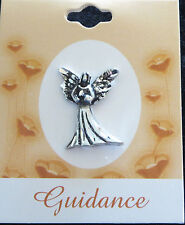GUIDANCE Blessing Angel Pin Lapel New Brooch Silver Tone Special Message Protect