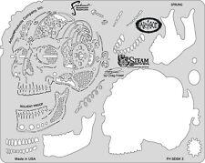 """Artool Iwata Craig Fraser Skullmaster Steam Driven """"Sprung"""" Airbrush Stencil"""