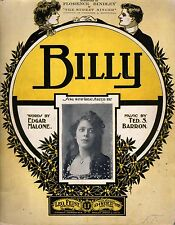 1915 Billy from the Street Singer -Edgar Malone, Ted S. Barron;Florence Brindley