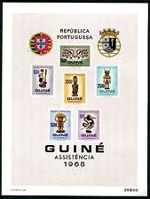 Portuguese Guinea RA17-19, 21-23, MNH, 1982 Carved Figurine Coat of Amrs. x11025