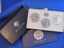 1983-PDS Olympic BU Silver Dollar 3 Coin Set B4942