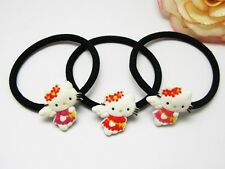 6 Hello Kitty Elastic (6 pieces) Hair Rope Ring Ponytail Holder LK275 Wholesale