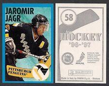 1996-97 Euro Panini Hockey Sticker #58 Jaromir Jagr Pittsburgh Penguins