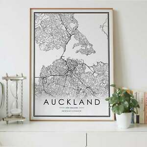 Auckland Lines Map Wall Art Poster Print. Great Home Decor
