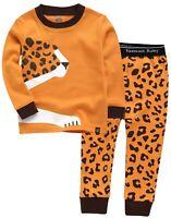 """Vaenait Baby Toddler Kids Clothes Long  Pajama Set """"Cheetah """" 12M-12Y"""