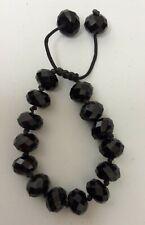 Black Precious Stone Costume Jewellery Bracelet Preowned Unboxed (800DJ)