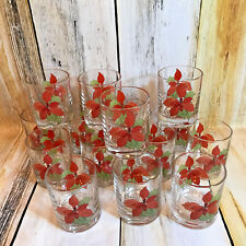 Vtg Block Spal Poinsettia Old Fashioned Glasses Goertzen Portugal 15 In Box EUC!