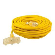 Aleko Etl Heavy Duty Indoor Outdoor 100Ft Extension Cord Sjtw Plug 12/3 Gauge