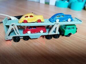LKW Tatra mit Autotransporter + 3 Autos Spur TT mit 12V Beleuchtung rot/warmweiß