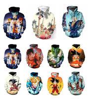 Women/Men's Dragon Ball Z Goku 3D Print Casual Hoodies Sweatshirt Pullover Tops
