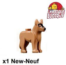 Lego - 1x Animal chien dog german alsatian medium dark flesh 92586pb01 NEUF