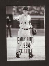 Chicago White Sox--Robin Ventura--1994 Early Bird Pocket Schedule--SoxFest