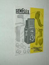 SEM SEMFLEX catalogue les accessoires en ANGLAIS photo photographie