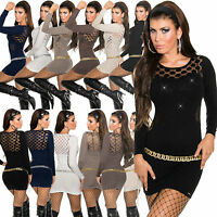 New Sexy Women Pullover Ladies Jumper Top Blouse Size 6 8 10 12 Clubbing Shirt S