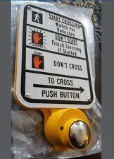 "Pedestrian Crossing Signal Push Button, 9""x12"", Reflective, *NEW* Gov't Surplus"
