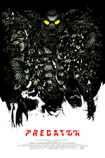 Póster de la película Depredador alternativa por artista Mondo Oliver Barrett no./200