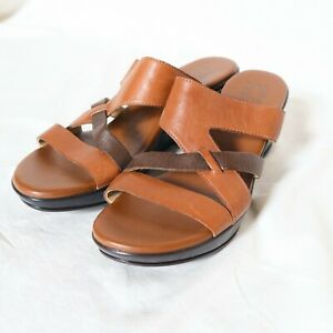 BNWOT Naturalizer Tan Leather Sandals/Wedges - size 9M / 39