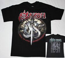 SAXON CALL TO ARMS WORLD TOUR 2011 IRON MAIDEN DIAMOND HEAD NEW BLACK T-SHIRT