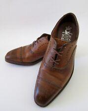 Barker Black Bespoke Leather Wing Tip Oxfords Handmade in England 10C