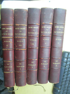 "Victor Hugo ""Les Misérables"" Complet 5/5 reliés / Hetzel Quantin vers 1880"