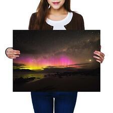 A2 | Tasmania Aurora Australis Night - Size A2 Poster Print Photo Art Gift #2200