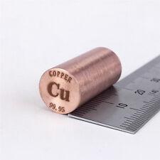 Pure Copper Metal Rod 99.95% 14grams 10diameterx20mm length Element Cu specimen